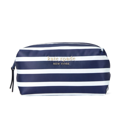 Everything Puffy Stripes Medium Cosmetic Case Squid Ink Multi
