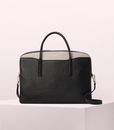 Margaux Universal Laptop Bag Black and Warm Taupe