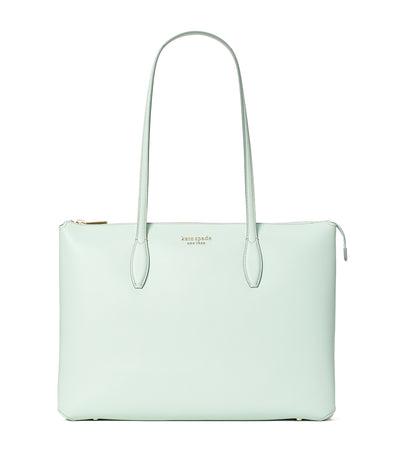 All Day Large Zip-Top Tote Crystal Blue