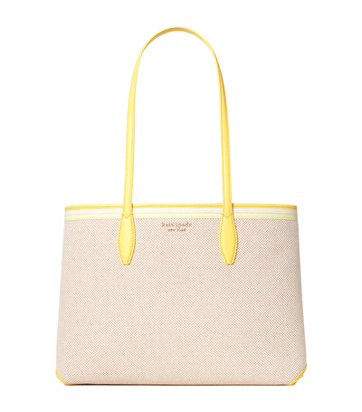 All Day Canvas Large Tote Yellow Multi