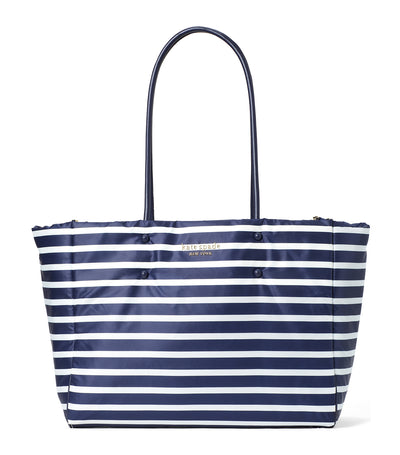 Everything Puffy Sailing Stripe Large Tote Squid Ink Multi