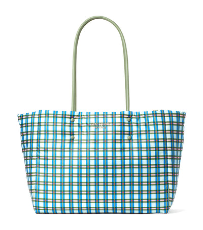 Everything Puffy Plaid Large Tote Multi