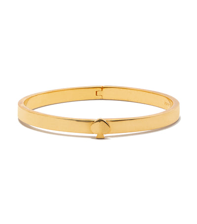 Heritage Spade Thin Metal Button Bangle Gold