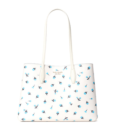 All Day Dainty Bloom Large Tote Optic White Multi