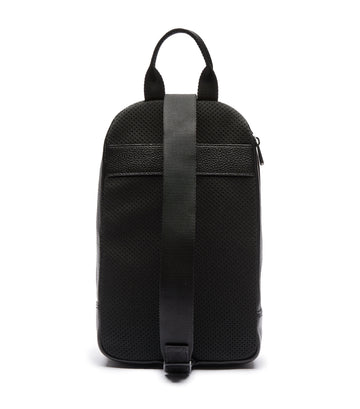 Men's Soft Mate Leather Crossbody Bag Noir