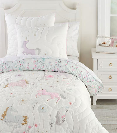 pottery barn kids mystical unicorn quilt