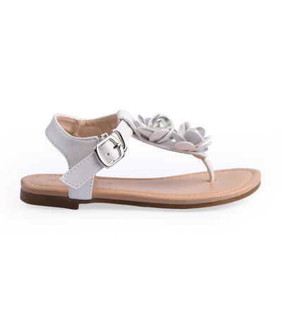 meet my feet white/silver layla sandals