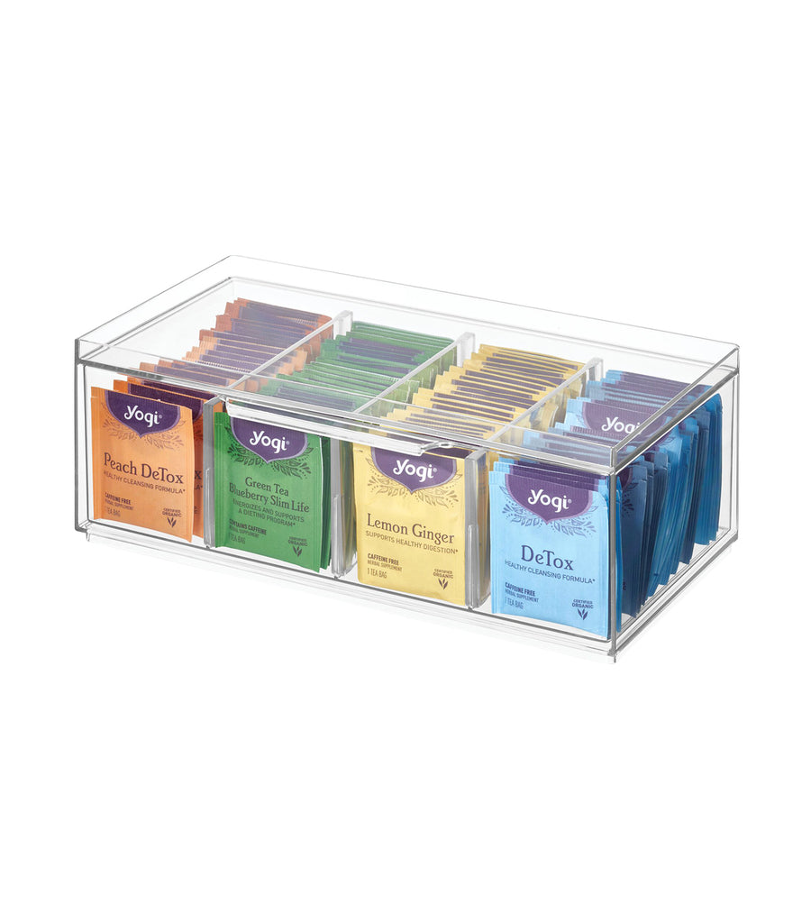 Crisp Stackable Tea Packet Storage Organizer