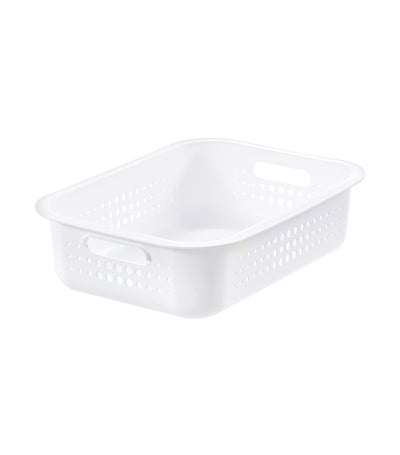 Basket with Lid - White