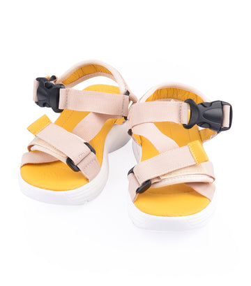 meet my feet beige/yellow fes sandals