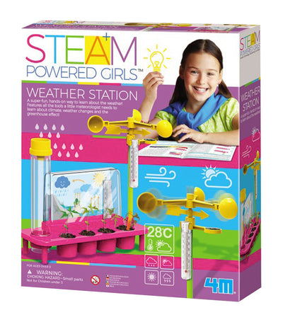 4m multicolor steam powered girls weather station