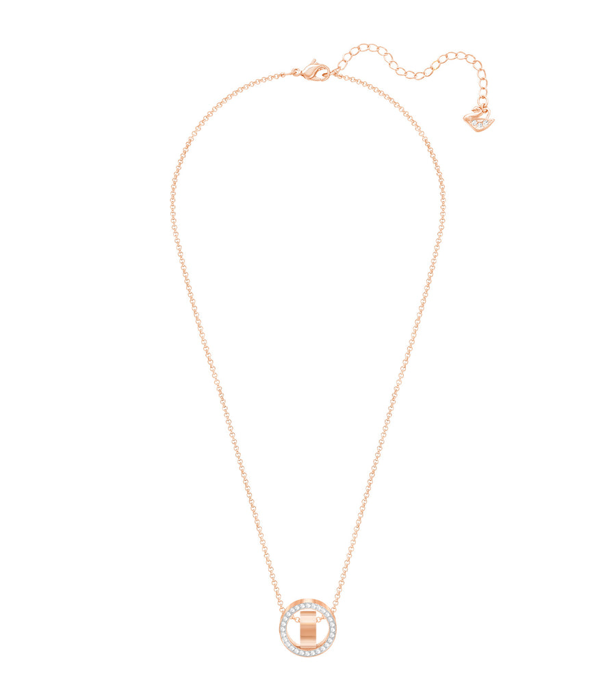Hollow Pendant White, Rose-Gold Tone Plated