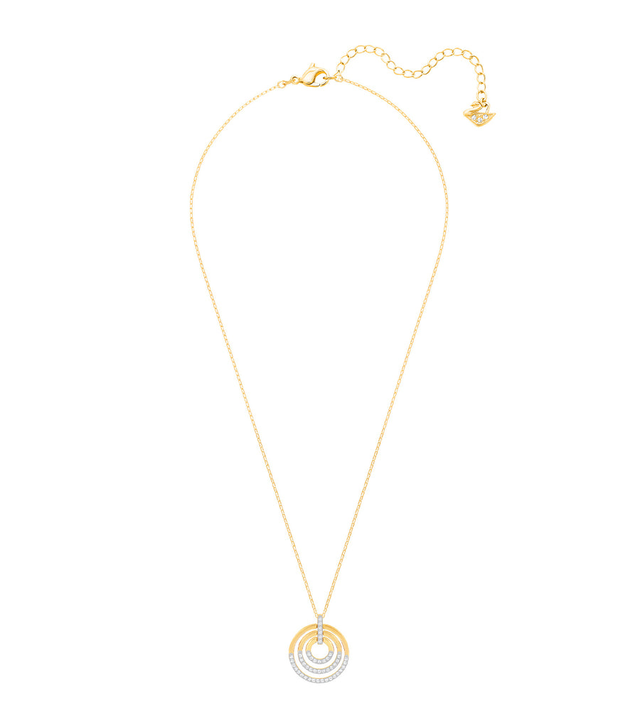 Circle Pendant Medium White Gold-Tone Plated