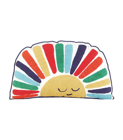pottery barn kids rainbow sun pillow