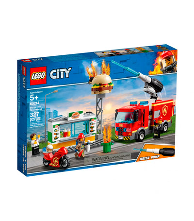 lego city burger bar fire rescue