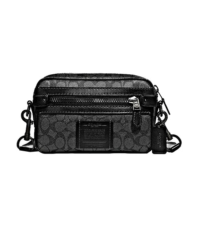 Academy Signature Coated Canvas Crossbody Charcoal