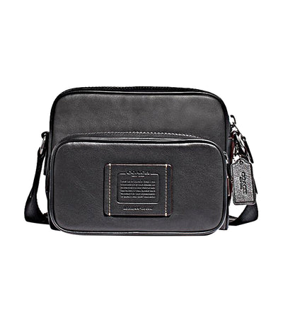 Academy Sport Leather Crossbody Black