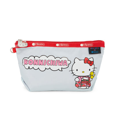 hello kitty x lesportsac medium sloan cosmetic pouch kon'nichiwa hello kitty