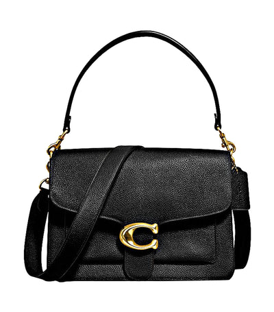 Tabby Leather Shoulder Bag Black