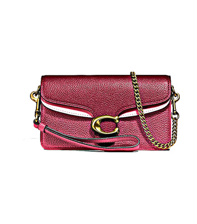 Tabby Leather Crossbody Bag Dusty Pink