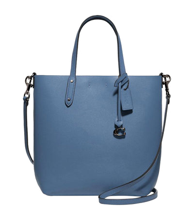 Central Shopper Tote Gunmetal and Stone Blue