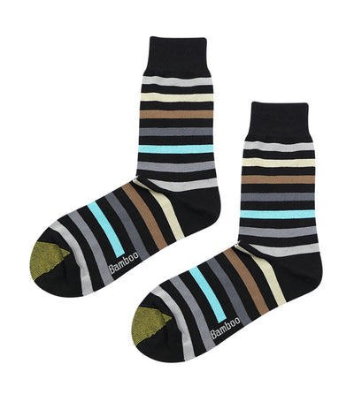 gold toe elements bamboo colorful stripes dress socks blue