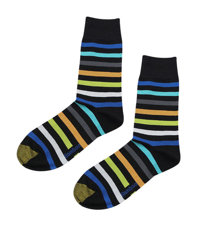 gold toe elements bamboo colorful stripes dress socks green