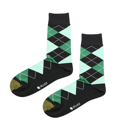 gold toe elements modal argyle dress socks green