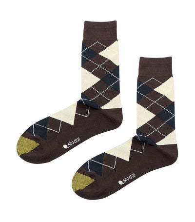 gold toe elements modal argyle dress socks brown