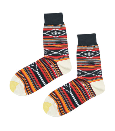 gold toe premier tribal design dress socks black