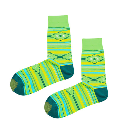 gold toe premier tribal design dress socks green