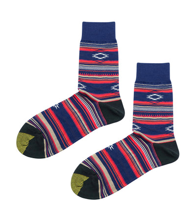 gold toe premier tribal design dress socks blue