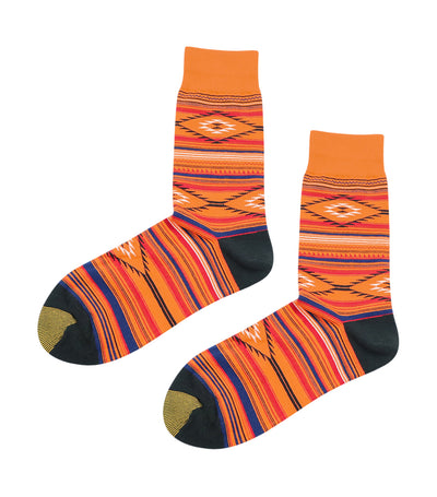 gold toe premier tribal design dress socks orange