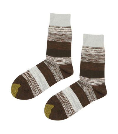 gold toe premier multi-colored stripes dress socks brown and gray