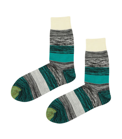 gold toe premier multi-colored stripes dress socks white and green