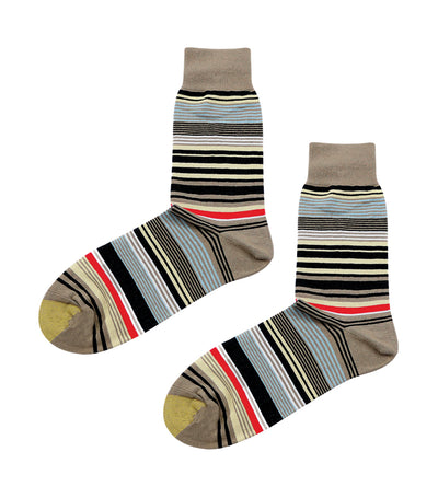 gold toe premier stripes mesh dress socks brown