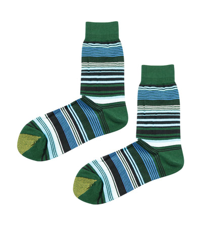 gold toe premier stripes dress socks green