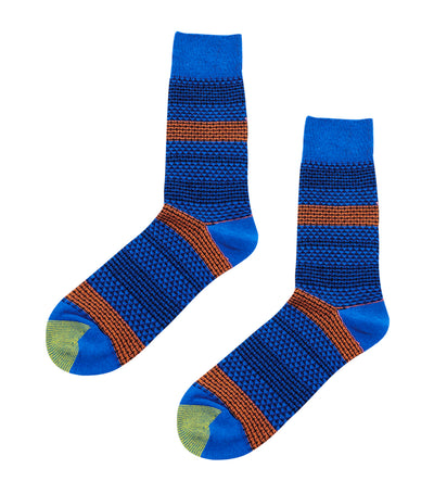 gold toe premier stripes mesh dress socks blue