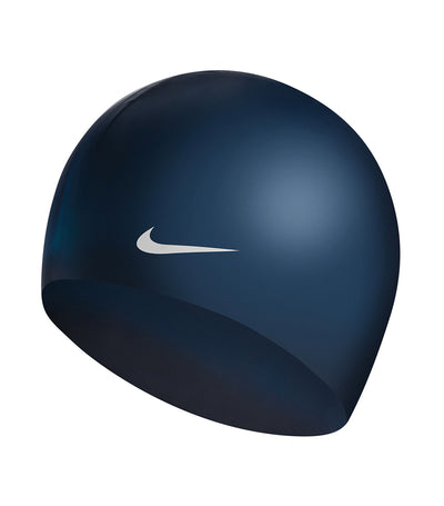 nike swim unisex solid silicone cap midnight navy