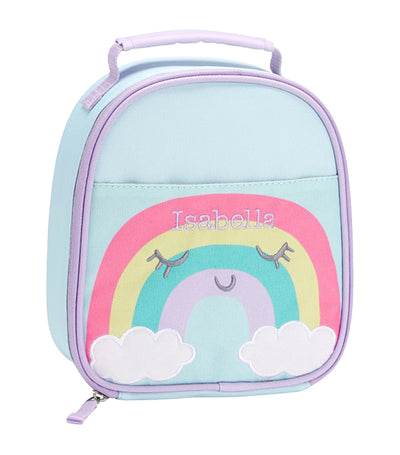 pottery barn kids rainbow little critters lunch bag