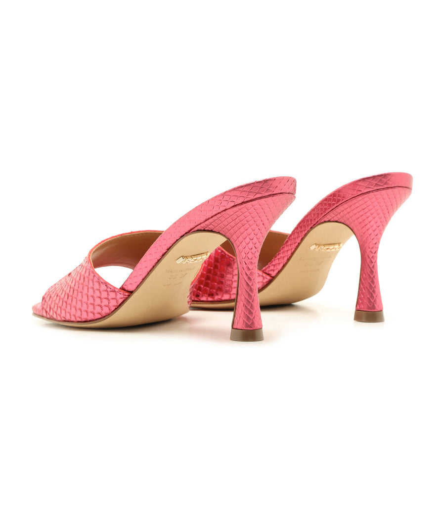 Square Toe Sandal Metallic Pink