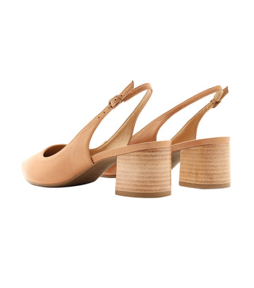 Stack Heel Sandal Brown