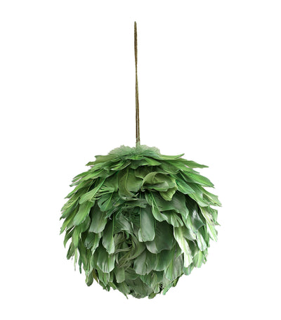 Rustan's The Christmas Shop Feather Ball Ornament - Green