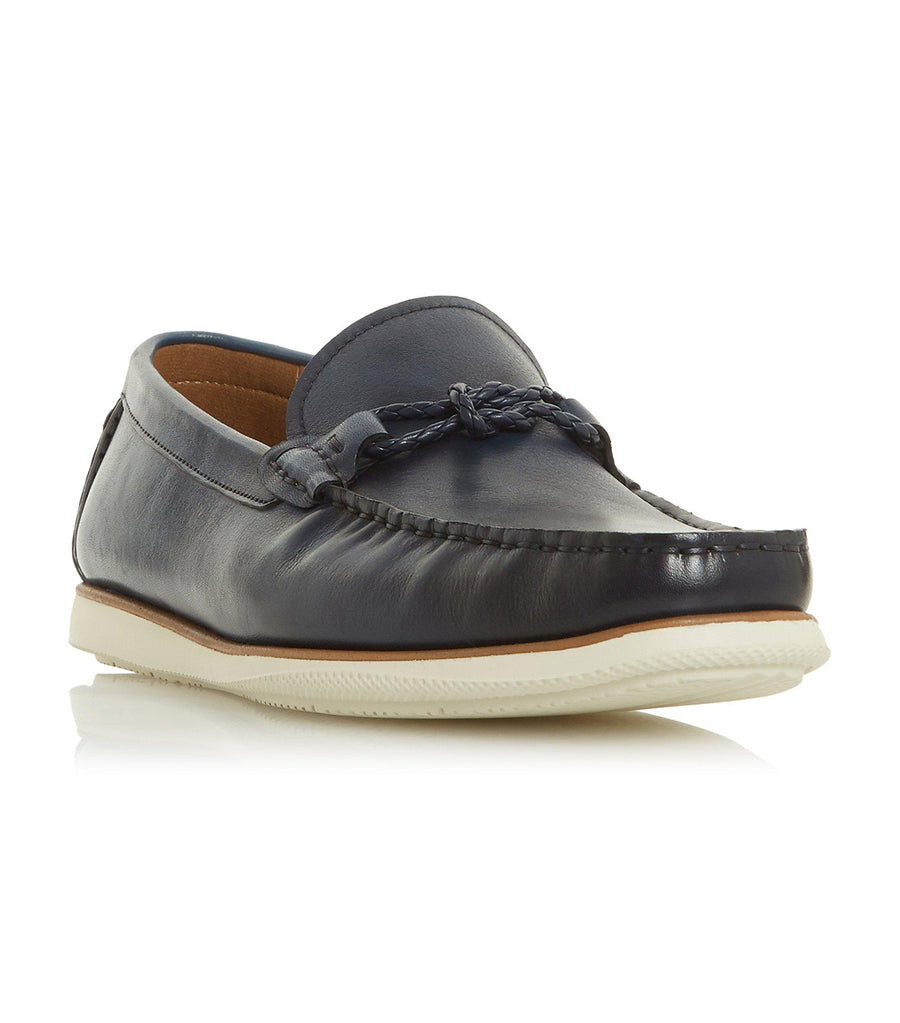 Barriers Plait Trim Loafer Navy