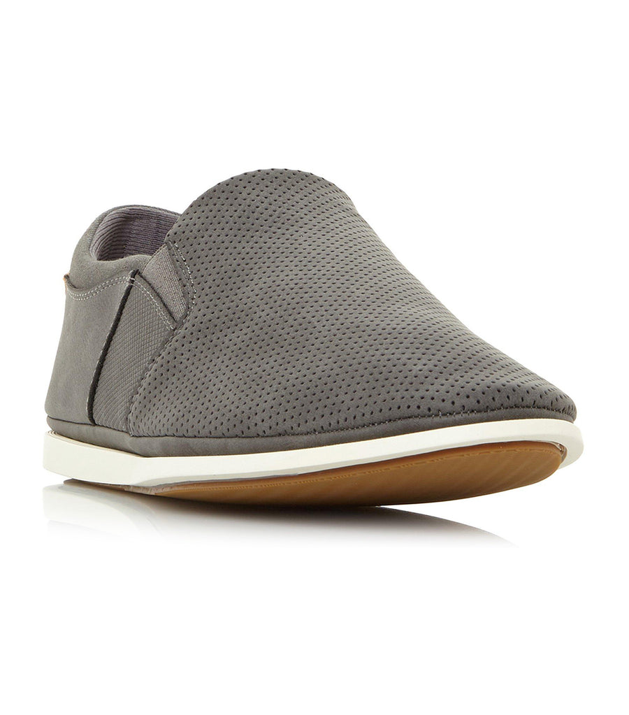 Blinks Perforated Slip-On Shoes Gray