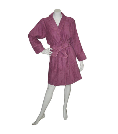 Terry Bathrobe - Old Mauve