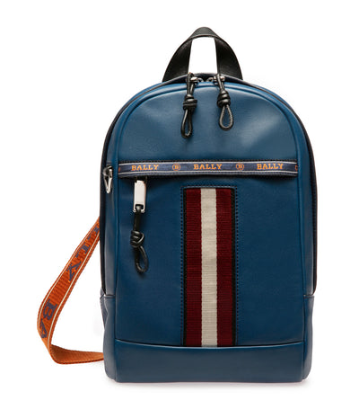 High Point Hari Leather Sling Bag Multi Blue Sky