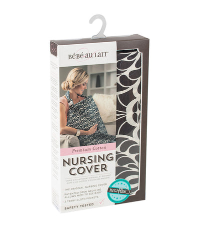 bebe au lait cotton nursing cover - tribeca