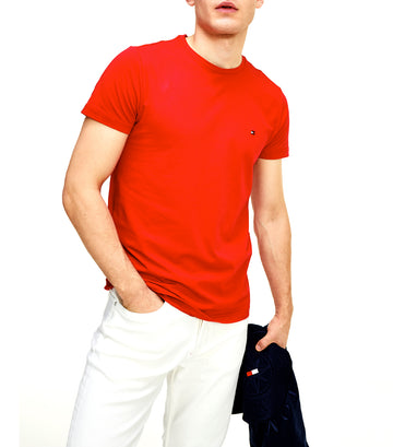 Stretch Slim Fit Tee Primary Red