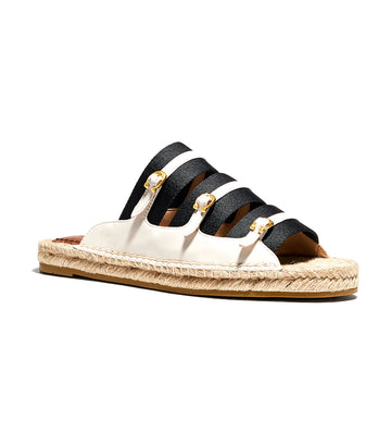 Devon Leather Espadrille Sandal Chalk